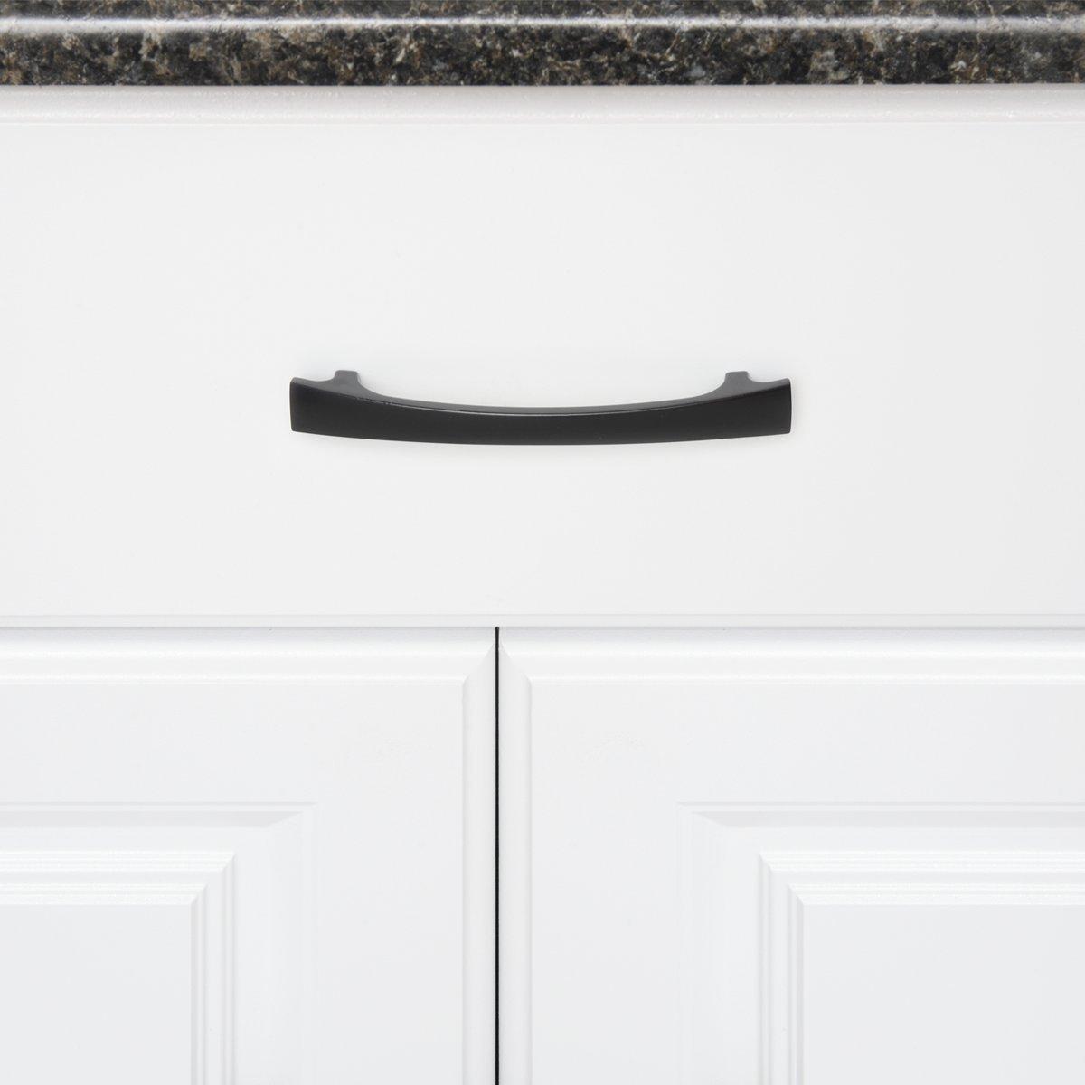 Bronce antiguo curvado y grueso para armario Basics Tirador moderno Paquete de 10 16,51 cm de longitud centro del orificio de 12,7 cm