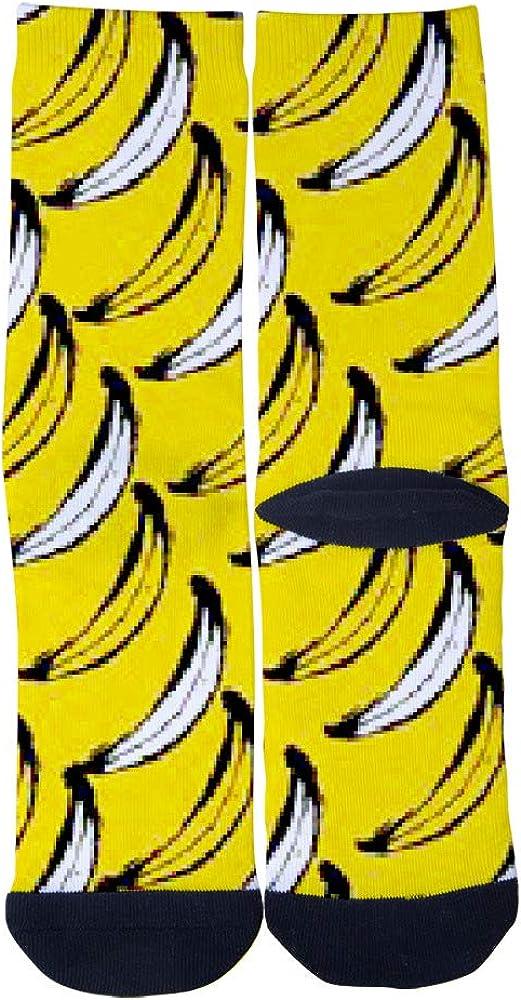 Classic Banana Poster AlyGoo 3D Print Funny Custom Crew Casual Socks