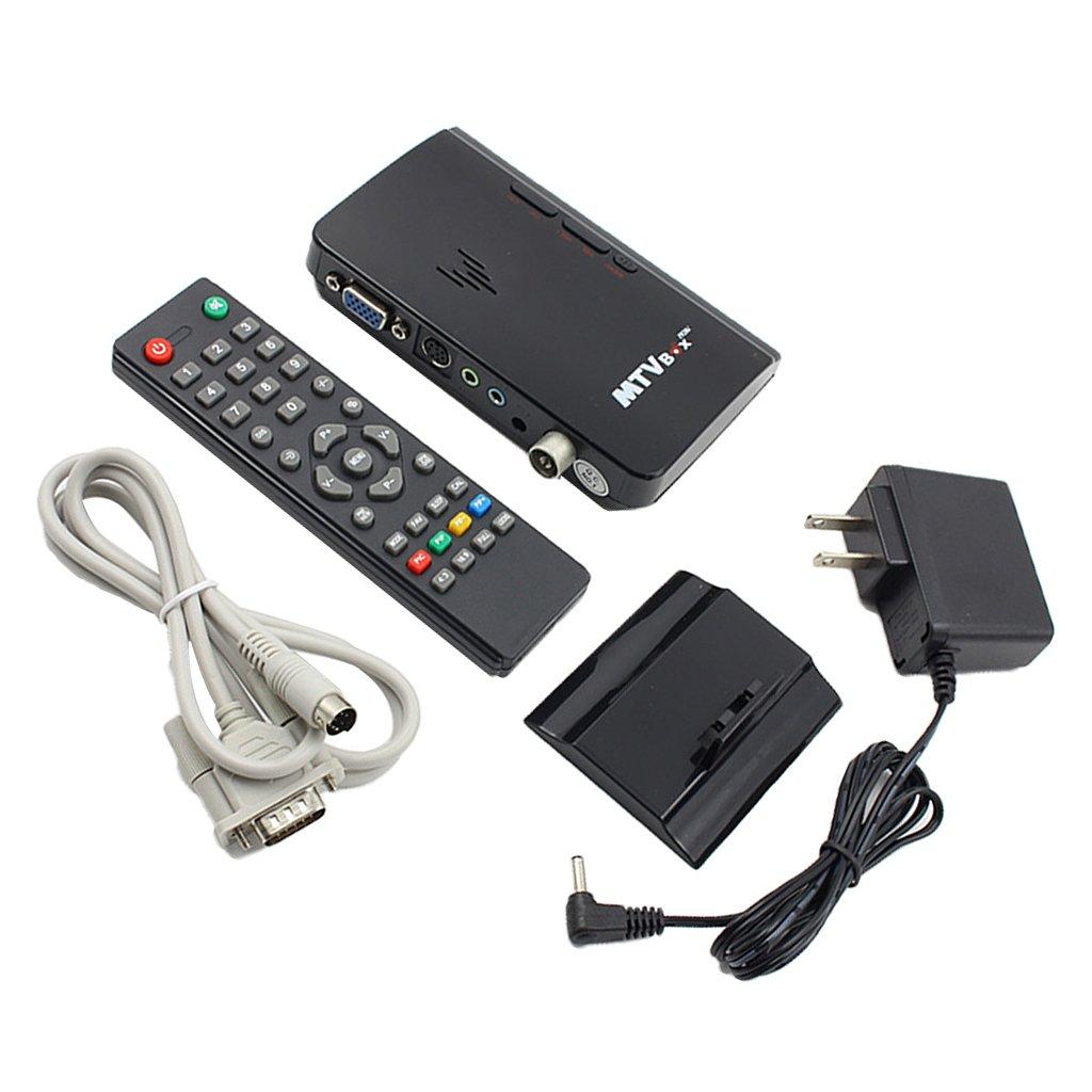 External LCD PAL/NTSC CRT VGA Monitor Digital TV PC Receiver Tuner Box HDTV US Plug Power Adapter for Computer Laptop HDTV by Jili Online