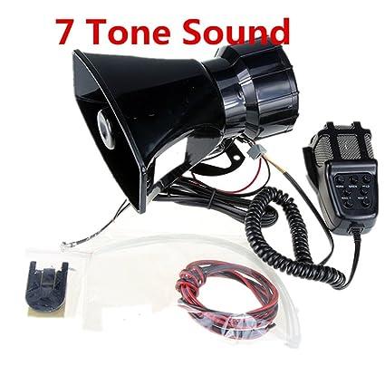 Altavoz de altavoz de la sirena de la policía del coche del amplificador de sonido del cuerno del coche con el sistema de altavoz del PA PA tono del ...