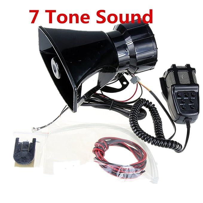 Altavoz de altavoz de la sirena de la policía del coche del amplificador de sonido del cuerno del coche con el sistema de altavoz del PA PA tono del altavoz ...