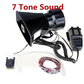 Altavoz de altavoz de la sirena de la policía del coche del amplificador de sonido del