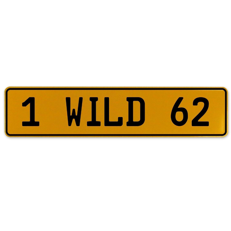 Vintage Parts 560996 1 Wild 62 Yellow Stamped Aluminum European Plate