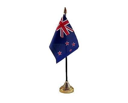 Nueva Zelanda de mesa bandera con base rugby: Amazon.es: Juguetes ...
