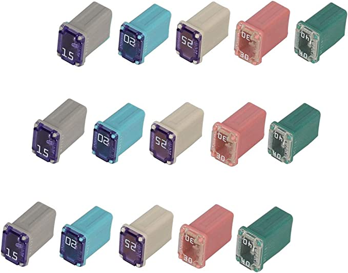 Two Flosser 608815 15 Amp Micro Cartridge Fuses FMM MCASE Type Made in Japan