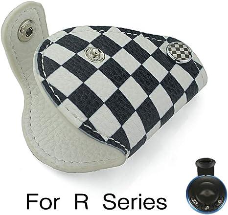 einmo per Mini Cooper R55 R56 R57 R60 R61 Clubman Countryman Union Jack Auto Vera Pelle Portachiavi Copertura della Cassa Car Styling Gray Rice