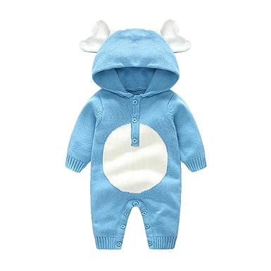 Baby Infant Kleinkind Cute Elefant Lange Ärmel Strampelanzug Overall Bodysuit Accessoires Halstücher
