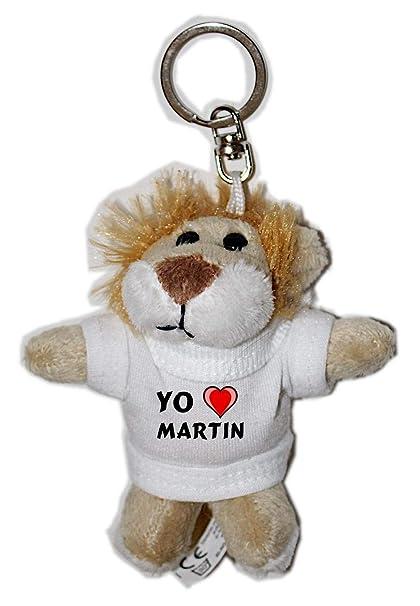 León de peluche (llavero) con Amo Martin en la camiseta ...