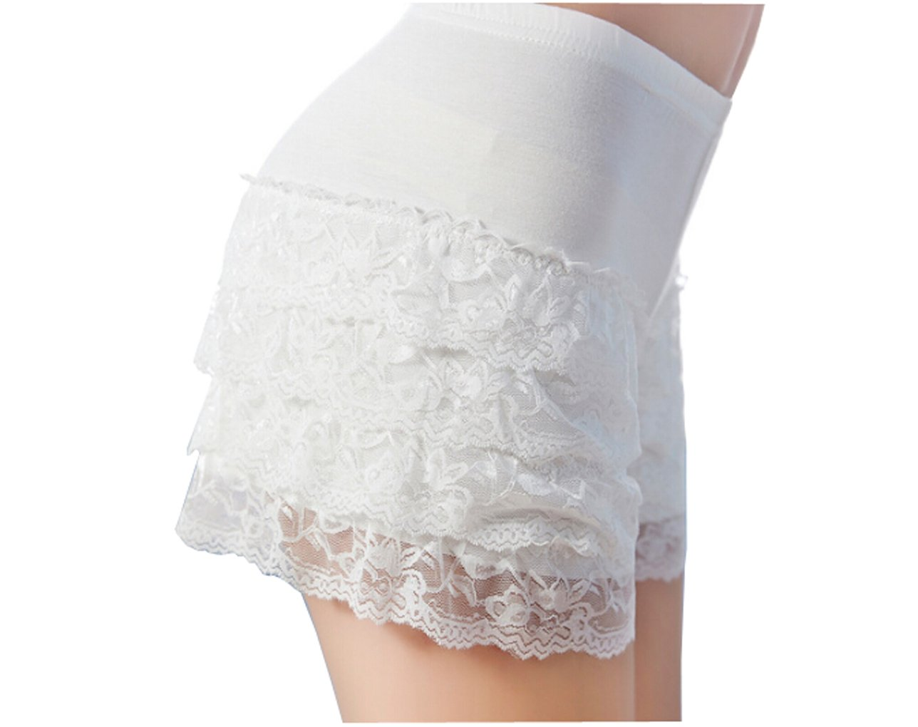 Women Ladies Stretchy Sexy Lace Trims Shorts Hot Pants Leggings Tights Modal Underwear Panty Underpants Slipshort
