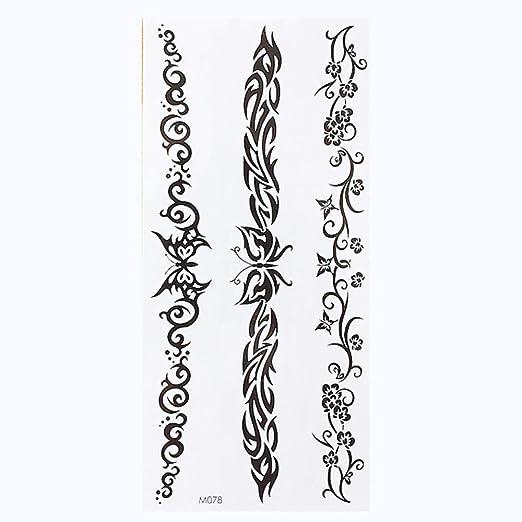 Handaxian 3pcsTable English Word Tattoo Sticker Letras Negras Body ...