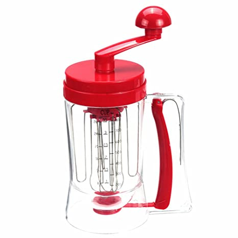 oumosi Manual Dispensador gofres Pancake mezclador batidora de repostería de plástico taza de drenaje de batir