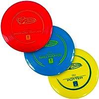 Wham-O Frisbee Golf Disc Pack 3, Rood, Blauw, Geel, 21.46 cm