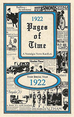 Seek Publishing 1922 Pages of Time Kardlet (PT1922)