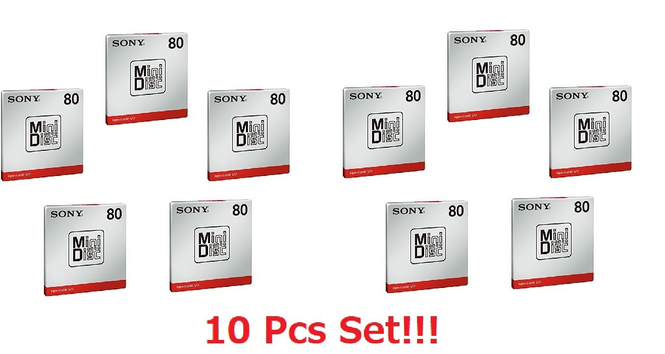 [10 Pcs Set] Sony MD80 Blank Mini Disc 80 Minutes Recordable MD Japan Genuine