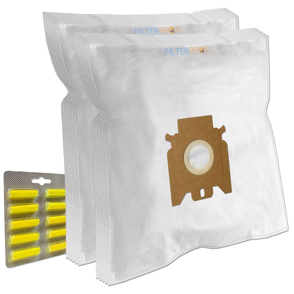 SET 10 Sacchi / Sacchetti (Microfibra) + 10 PROFUMI + 1 Filtro Per aspirapolvere Miele S5281, Automatic Tt5000, S5411, Cat & Dog Tt5000 Filterprofi