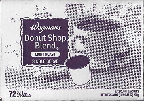Wegmans Single Serve Coffee Capsules Case of 72 (Donut Shop Blend)