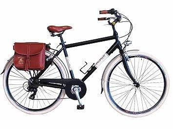 Via Veneto Bicicleta Clasica de Paseo - Retro ALU Uomo, Nero ...