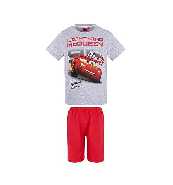 Flash Mc Queen - Pijama Dos Piezas - para niño Gris y Rojo 3 Años