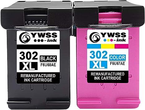 YWSS Remanufacturado Cartuchos de Tinta Reemplazo para HP 302 XL 302XL (1 Negro, 1 Tricolor) Compatible con HP Envy 4520 4527 4524 Deskjet 3630 2130 2132 3637 3636 3638 Officejet 4652 3830 Impresoras: Amazon.es: Electrónica