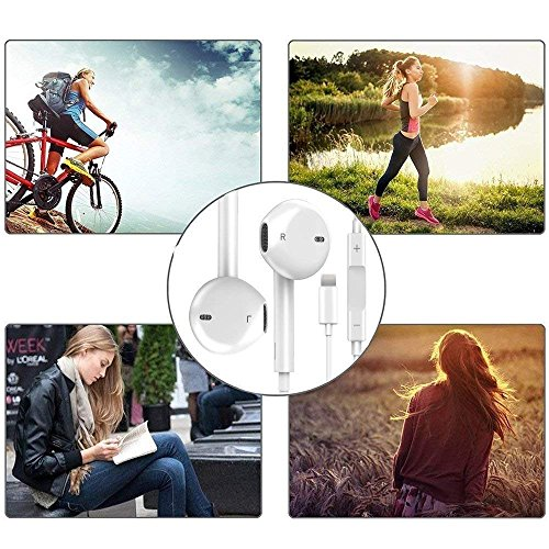 Lightning Earphones,With Microphone Earbuds Stereo Headphones and Noise Isolating headset Made for iPhone 7/7 Plus iPhone8/8Plus iPhone X Earphones,Support all iOS system by my-handy-design (Image #6)