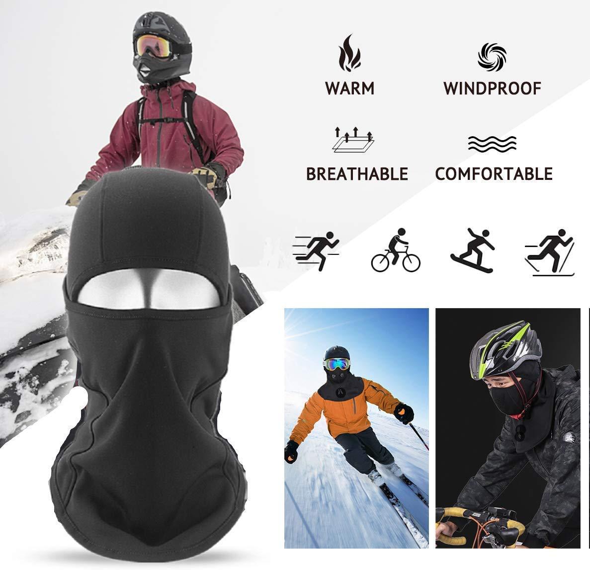 Pasamonta/ñas para Moto Bicicleta Snowboard Braga de Cuello de Invierno de Forro Polar a Prueba de Viento m/áscara t/érmica a Prueba de Viento tama/ño Universal COTOP esqu/í Balaclava