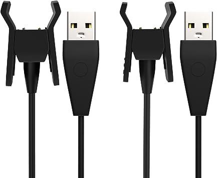 Adaptador para Base de Muelle de Cable de Carga de 1.8 FT Negro para Fitbit Alta HR Heart Rate MoKo Fitbit Alta HR Cargador Fitness Wristband 550mm Reemplazo USB Charger con Bot/ón de Reinicio