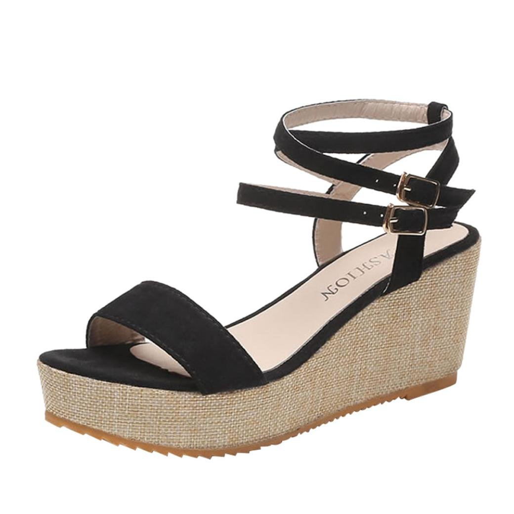 Women Shoes, Limsea Fashion Fish Mouth Platform High Heels Wedges Sandals Buckle Slope Shoes