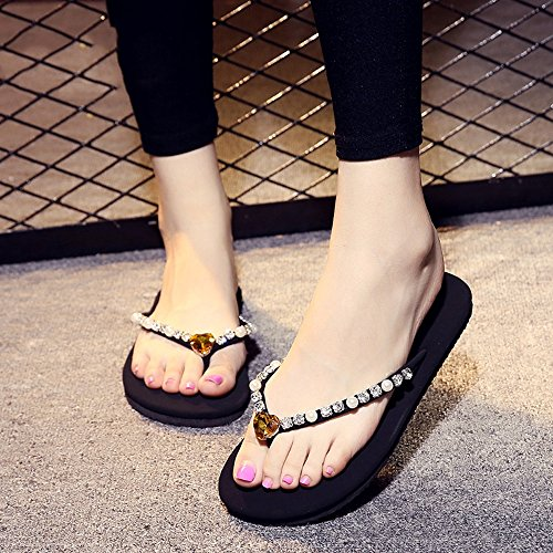 étudiant Plage à HAIZHEN pour CN37 pour Mode 5 Plats avec Simple 9 1 la Chaussures Femmes 5 Chaussons Taille la antidérapants UK4 d'été Pantoufles Couleurs Femmes Couleur à EU37 4 vwqZv