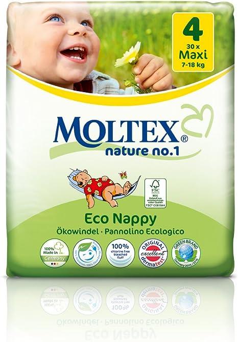 caja de cartón - 120 unidades MOLTEX Nature No1 pañales ecológicos ...