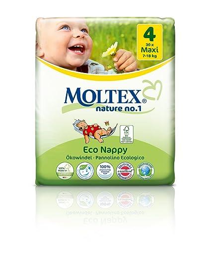 caja de cartón - 120 unidades MOLTEX Nature No1 pañales ecológicos bio oso pañales bebés MAXI