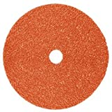 3M Cubitron II Fibre Disc 987C,  Precision Shaped Ceramic Grain, Wet/Dry, 7'' Diameter, 80+ Grit, Orange (Pack of 25)