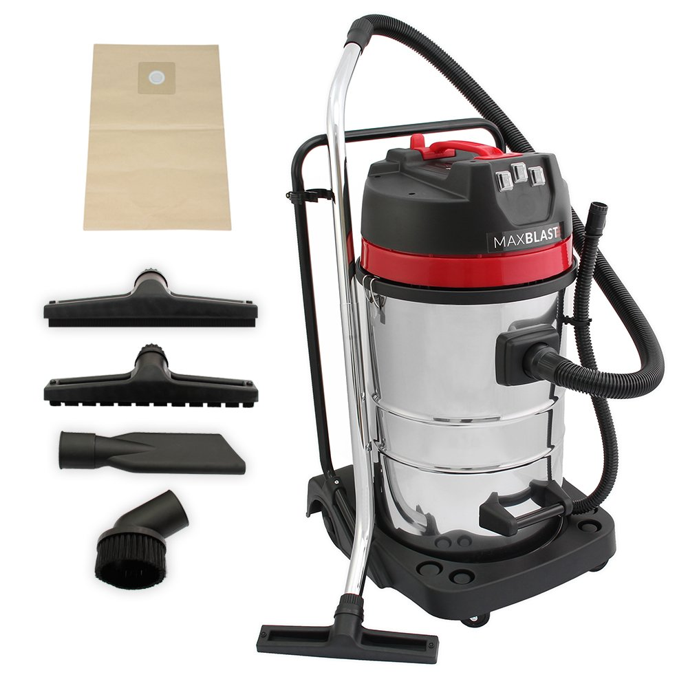 MAXBLAST Industrial Wet Dry Vacuum Cleaner Attachments Powerful 3000W 80 Litre Stainess Steel Amazoncouk Kitchen Home