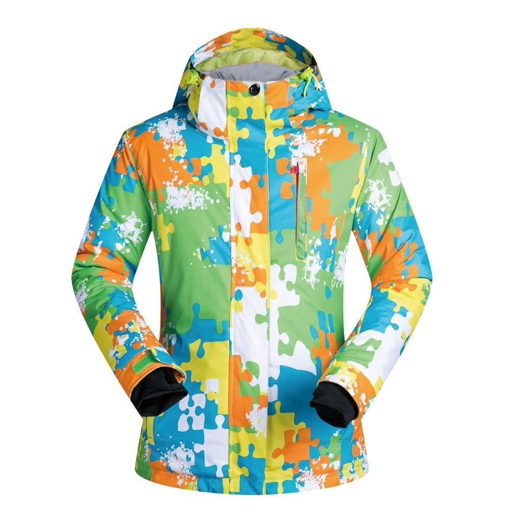 メンズスキーウェア 色合わせスノーボードジャケット暖かい、通気性、耐摩耗性 - 冬の男のための スキー休暇用 (色 : Color matching, サイズ : XL) Color matching X-Large