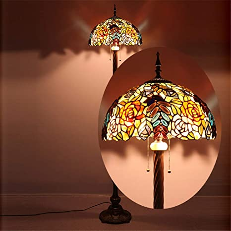 Good Thing Lámpara de pie Tiffany de 16 Pulgadas Lámpara de ...