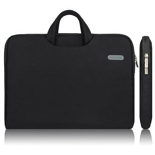 ARVOK 11 11.6 Pouces Housse avec Poignée pour Ordinateur Portable Sacoche Pochette PC en Toile de Protection Ordinateurpour Macbook Pro Retina/ASUS/Dell/HP/Lenovo/Tashiba/Sony - Noir