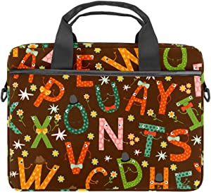 Laptop Shoulder Bag English Letter Compatible with 13-13.3 inch MacBook Pro, MacBook Air,Notebook Computer 11x15in