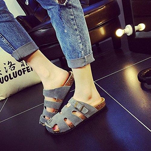 LIXIONG Portátil Zapatillas Planas De Los Amantes De Los Pares Del Verano Masculino / Femenino Zapatos De La Manera Zapatillas Frescas De La Manera Con 6 Colores -Zapatos de moda ( Color : #6 , Tamaño #6
