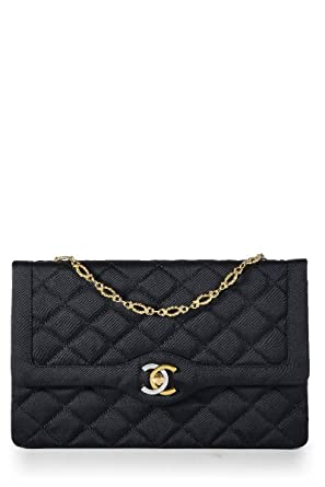 45c8c11e57 Image Unavailable. Image not available for. Color: CHANEL Black Quilted  Satin Paris Limited Flap Bag ...