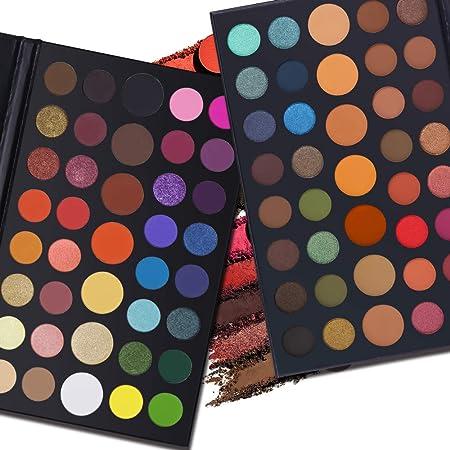 Professional 2 Fantasy Eyeshadow Makeup Palette, 39 Colors Matte Shimmer Pigmented Eye Shadow Powder Make Up Set Kit
