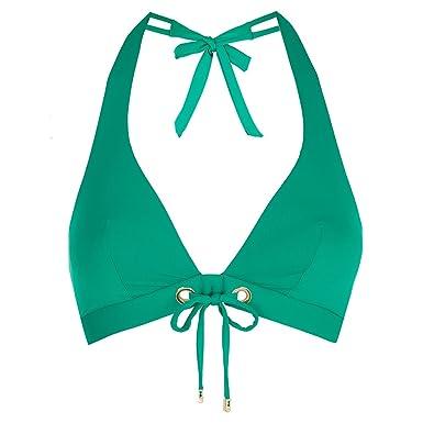 cdf369f0d0f Huit - Haut De Maillot - Triangle Femme - vert - 80B  Amazon.fr ...