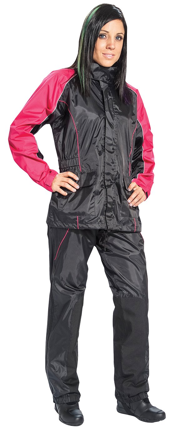 Black//Purple, X-Large Joe Rocket RS2 Womens 2-Piece Motorcycle Rain Suit