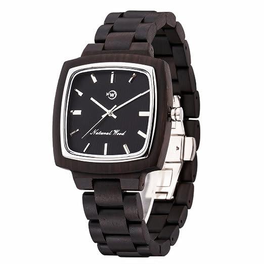 Reloj para Hombre Relojes suizos 763 de Cuarzo analógico, Natural, de Madera Natural con