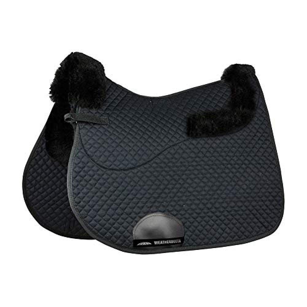 Weatherbeeta All Purpose Saddle Pad With Merino Edging (17.5 inches) (Black)