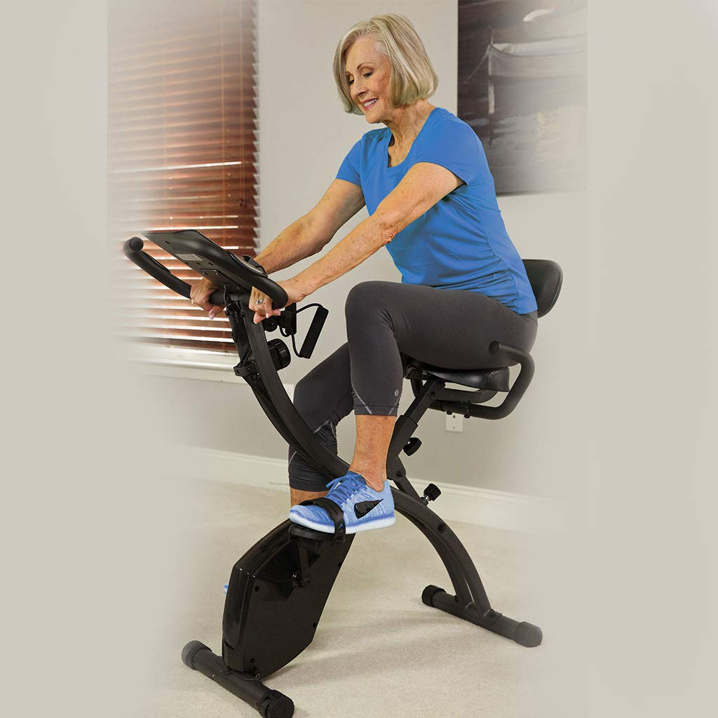 BulbHead Original As Seen On TV Slim Cycle 2-in-1 Stationary Bike Exercise Equipment Transforms from Upright Exercise Bike to Recumbent Bike Perfect for Cardio Training ... (Assembled with Belt) by BulbHead (Image #2)