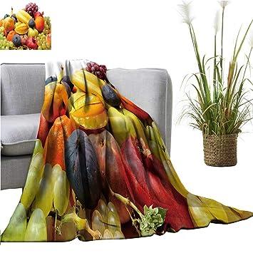 Amazon.com: YOYI Manta como colcha Fruit sala en el cuenco ...