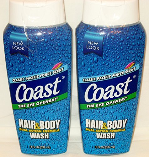 Coast Hair and Body Wash, Classic Scent, 2- 18 Fl Oz Bottles ()