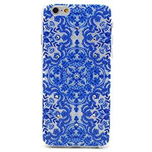 iPhone 6 Plus Case,iPhone 6 Plus TPU Case,XYX Fashion [Blue Totem Graphic] Ultrathin TPU Stick drill Protector Skin Cover Case For Apple iPhone 6 Plus (5.5 inch)