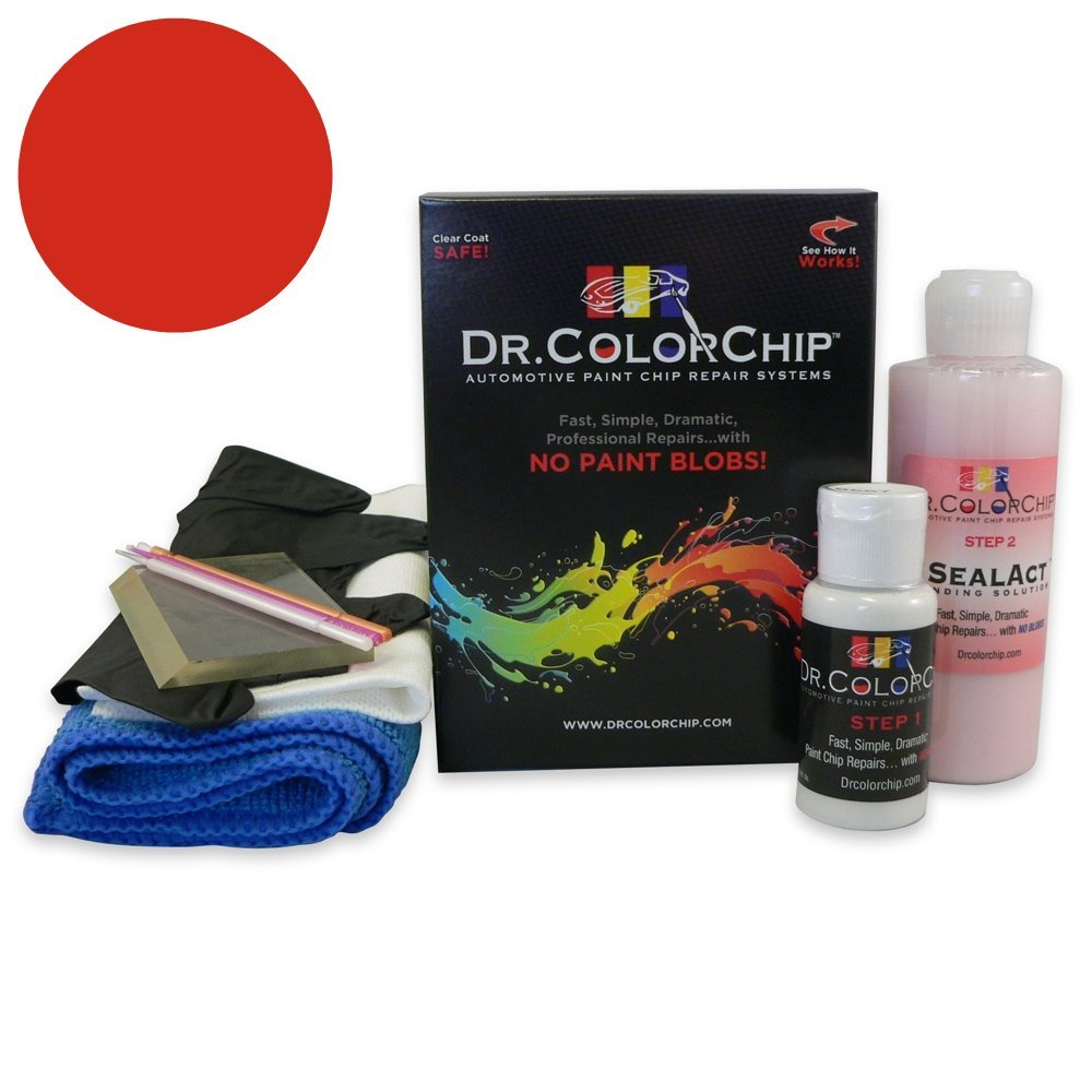Dr. ColorChip Chevrolet Corvette Automobile Paint - Torch Red 70/WA9075 - Squirt-n-Squeegee Kit