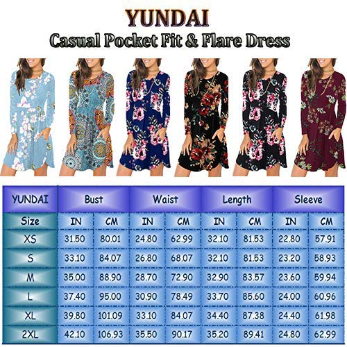 YUNDAI Women's Summer Loose Plain Dresses Casual Short Dress with Pockets
