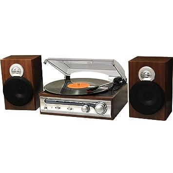 Roadstar HIF-5988 tocadisco Plata - Tocadiscos (Plata, 33,45 RPM, Cartucho de cerámica estéreo, FM, 80 W, LCD)